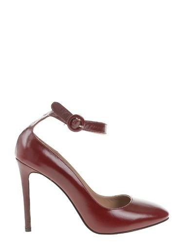 Divarese İnce Topuklu Bilekten Bağlamalı Stiletto Ayakkabı Kırmızı